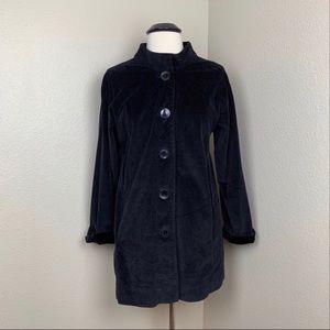 J. Jill Corduroy Jacket Black Size Medium